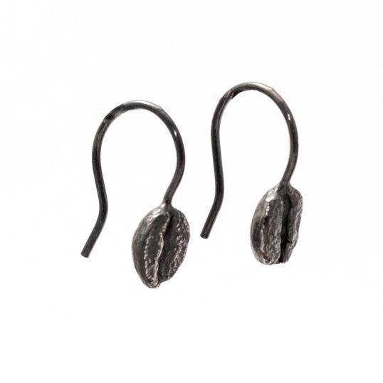 Coffee Bean Earrings Oxidised