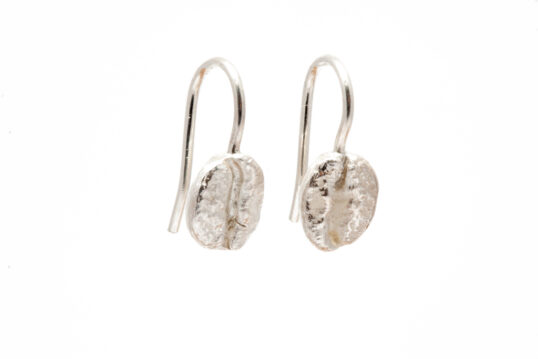 Coffee Bean Earrings Silver