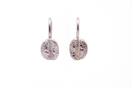 Coffee Bean Earrings Silver