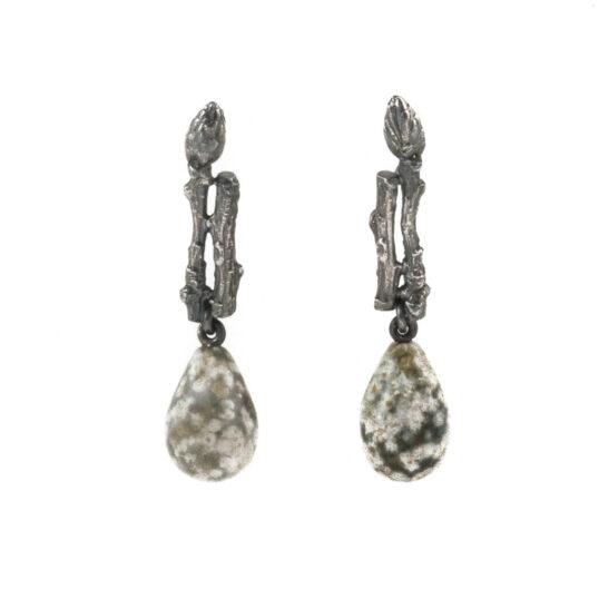 Twig Earrings with Jasper