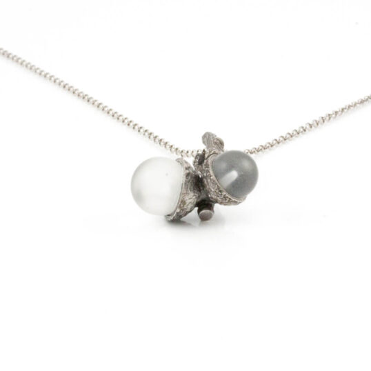 Acorn Necklace with Crystal