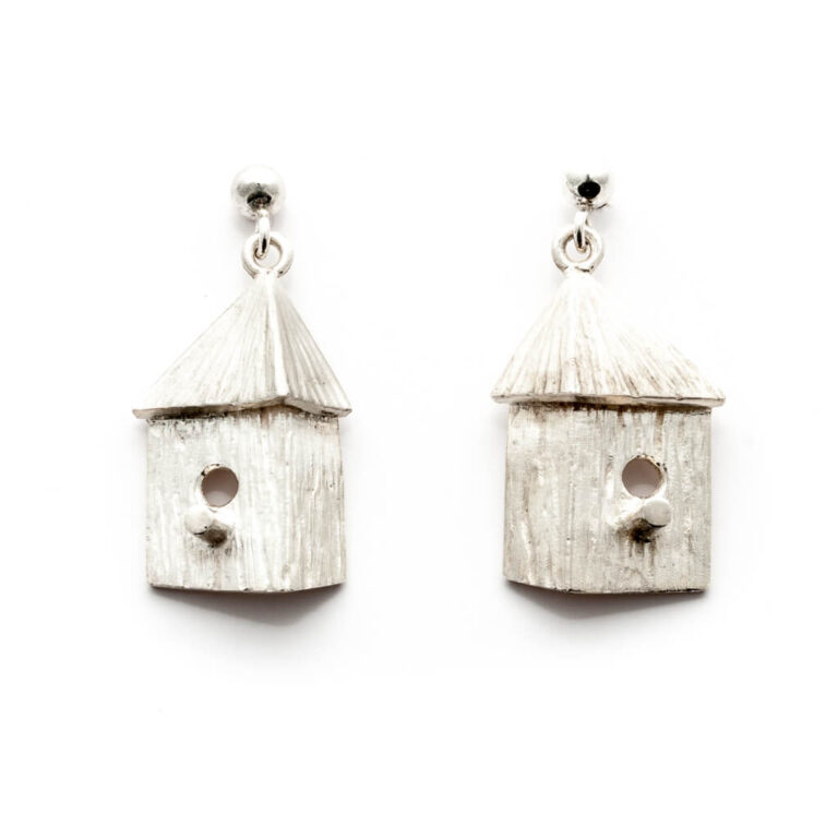 Bird House Earrings