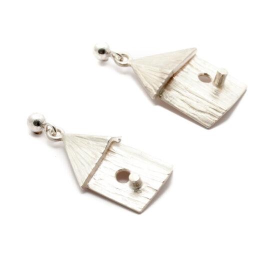 Bird House Earrings