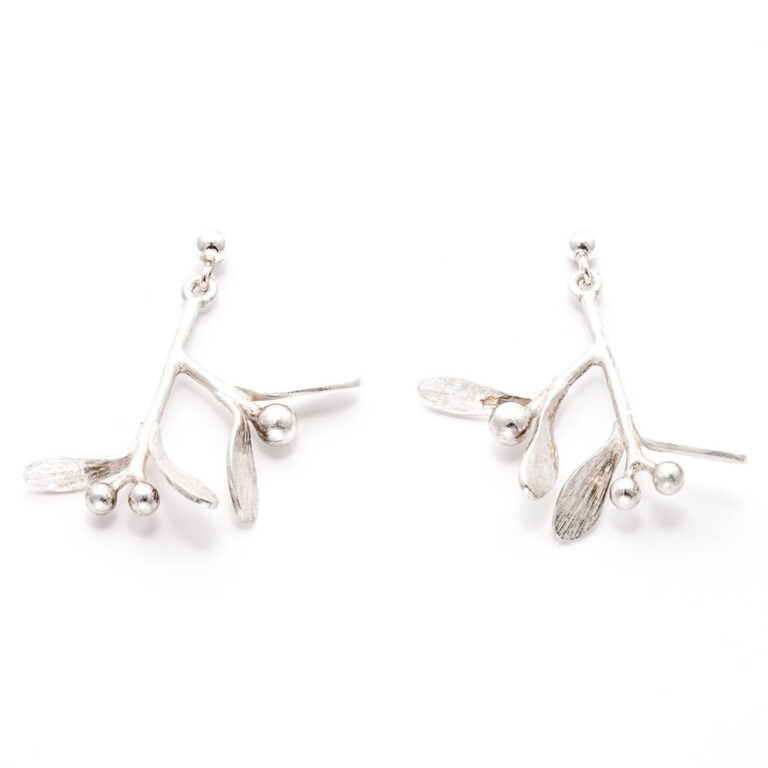 Mistletoe Earrings Silver