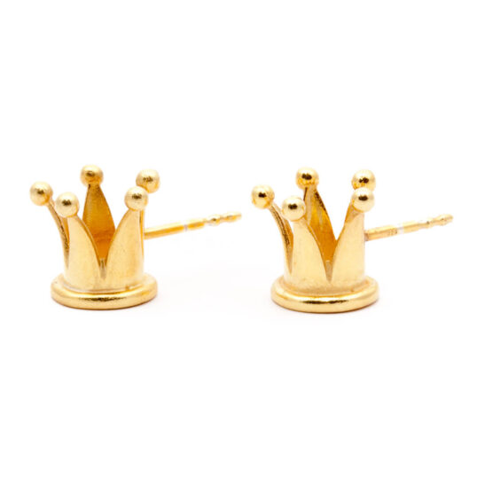 Crown Earrings Gold Plated